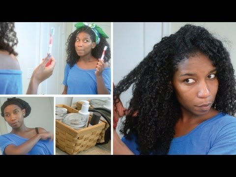 Night Time Routine | How To Keep Satin Scarf From Slipping! Natural Hair