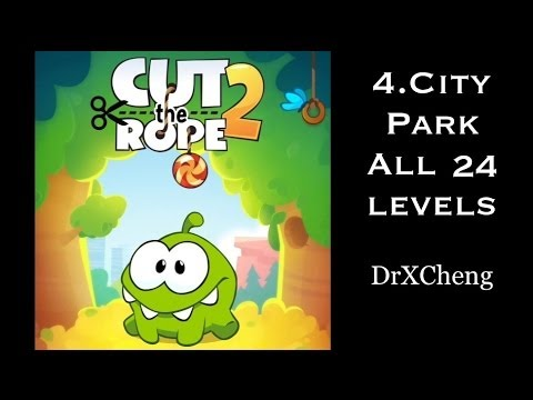 Cut the Rope 2 Walkthrough - All 24 City Park 3 Stars + Medal [HD]
