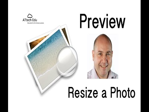 Mac Tips Preview - Resize a photo or image using Apple Mac OS X Preview Application