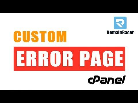 Set/Create Custom Error Pages in cPanel - (401, 403, 404, 500 Error...)