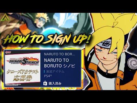 HOW TO GET Naruto To Boruto: Shinobi Striker Japenese BETA! Sign Up NOW!