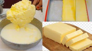 अमूल जैसा बटर घर पर बनाएँ सिर्फ 1चम्मच से बिना मशीन के।Just like Amul Butter|Instant Butter Recipe|
