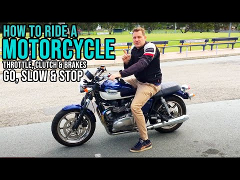 How To Ride A Motorcycle - Clutch Control and Brake - Take Off and Stop - Lesson 6
