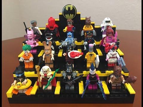 LEGO CUSTOM -- BATMAN MINIFIGURE DISPLAY CASE STAND