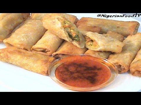 Nigerian Spring Rolls | Chicken & Vegetables Spring Rolls- Nigerian Small Chops 1