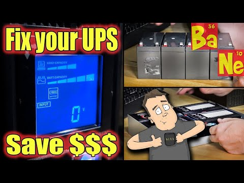 How To Repair a Computer UPS Cheap & Fast With Battery Replacement