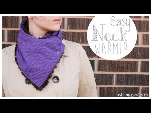 Neck Warmer How to | 30 Minute EASY DIY | Whitney Sews