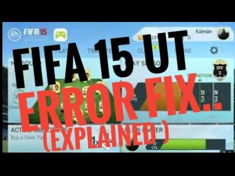 FIFA 15 ULTIMATE TEAM NEW SEASON ERROR FIX!!