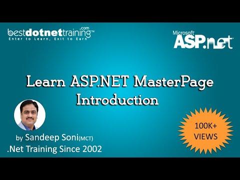 ASP.Net 4.5 Tutorial - Master page Web Applications - BDT