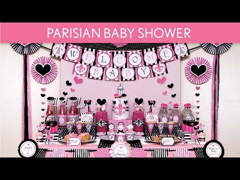 Parisian Baby Shower Party Ideas // Parisian - S47