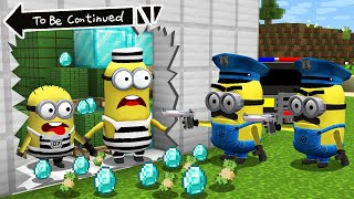 HOW TO MINIONS a ROBBERY BANK in MINECRAFT ! Scary Minion vs Minions - Gameplay Movie traps