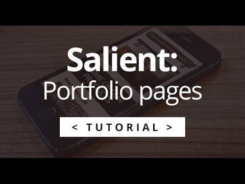 Salient - WordPress Tutorial - Editing a Portfolio / Case Study Page