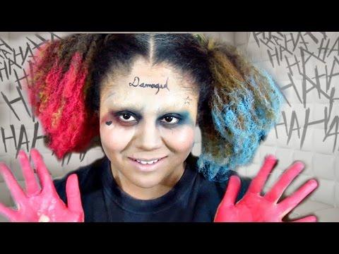 Schizophrenic Harley Quinn- Harley and Joker Merged Makeup