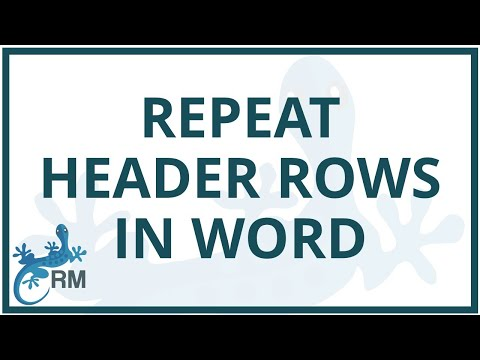 Word: how to repeat header rows in tables which run over more than one page
