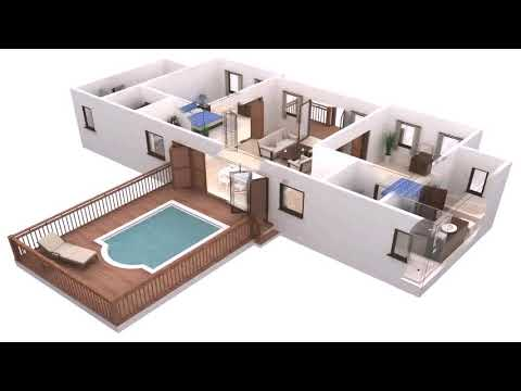 4 Bedroom House With Pool Plan