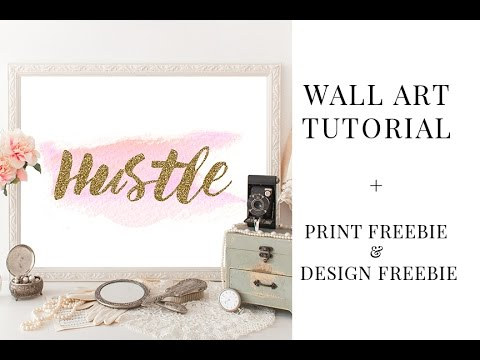 DIY Wall Art in Photoshop + FREEBIE Art Print & More!
