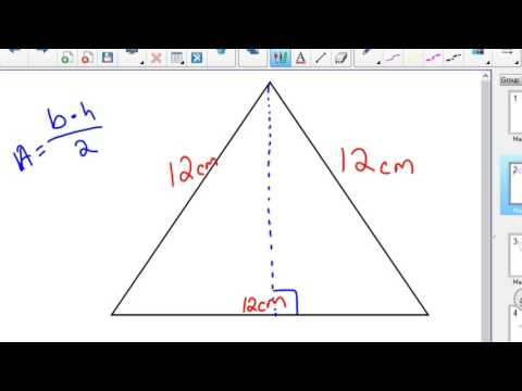 Area of Rectangle Triangle Parallelogram with Trig
