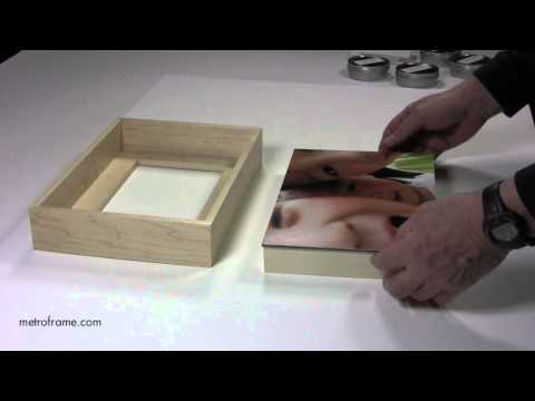 How to attach mounted photographs to wood floater frames