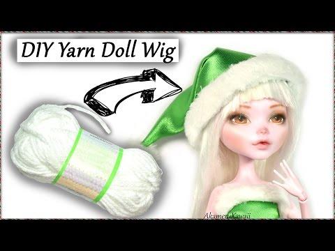 DIY Yarn Doll Wig Tutorial - How to make a doll wig