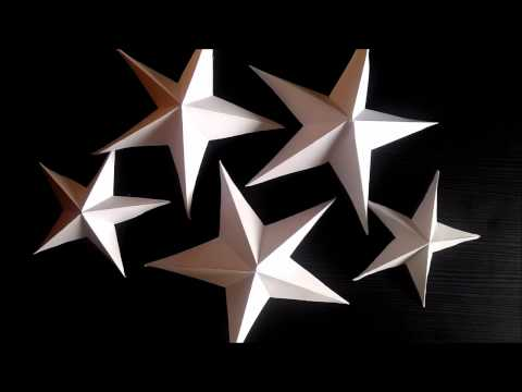 How to Make  Simple Paper Stars - DIY Simple Home Decor -