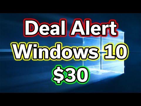 Deal Alert - Windows 10 Pro - $30