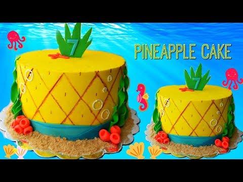 Easy Spongebob Inspired Pineapple Cake | Marisha's Couture