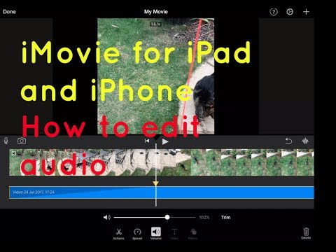 Sound & volume editing - iMovie for iPad and iPhone
