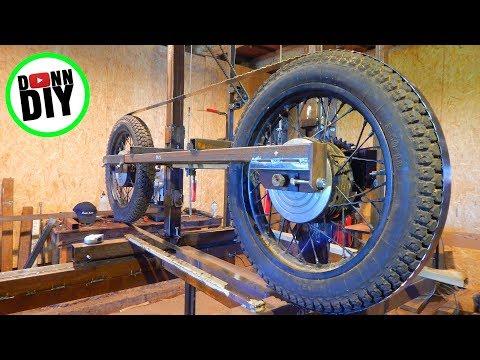 Homemade Portable Band Sawmill Build #16 - Band Wheels