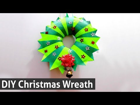 DIY Christmas Wreath Idea - How to Make Christmas Wreath with Paper