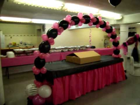 ***ZEBRA BABY SHOWER***HOT PINK AND BLACK**