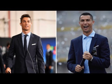 Cristiano Ronaldo hairstyle before and after winning 5 Cup UEFA 2018