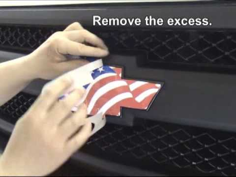 Vehicle Emblem Wrap Decal Kit Installation Instructions - Chevrolet Bowtie