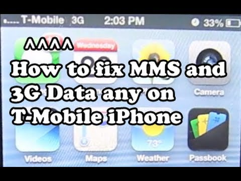 How To: Fix MMS and Enable 3G Data On Any T Mobile iPhone