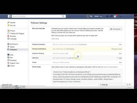How to change your follower settings in Facebook