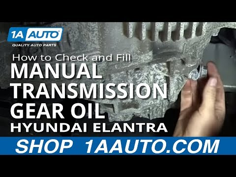 How To Check and Fill 5 speed Manual Transmission Gear Oil 2001-06 Hyundai Elantra