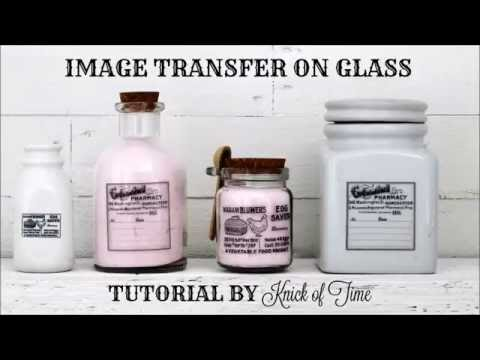 How to Image Transfer on Glass Bottles and Jars