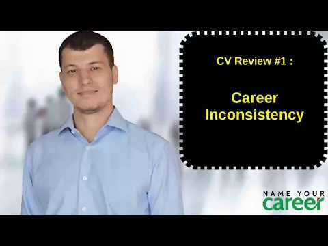 CV review #1 - Career Inconsistency