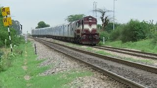 ULTIMATE DIESEL TRAIN : Ajmer Shatabdi Express with Furious Alco TKD WDM3A : INDIAN RAILWAYS