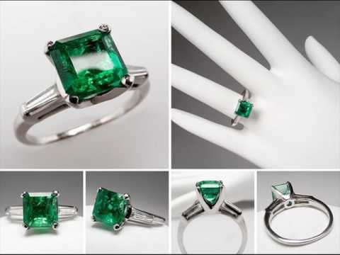 Emerald Engagement Rings and Wedding Bands Designs