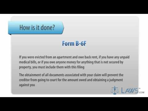 Learn How to Fill the Form B-6 F Schedule F - Creditors Holding Unsecured Nonpriority Claims
