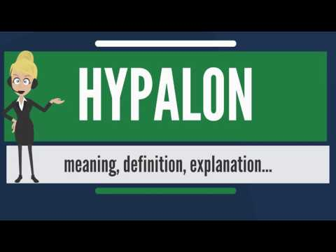 What is HYPALON? What does HYPALON mean? HYPALON meaning, definition & explanation