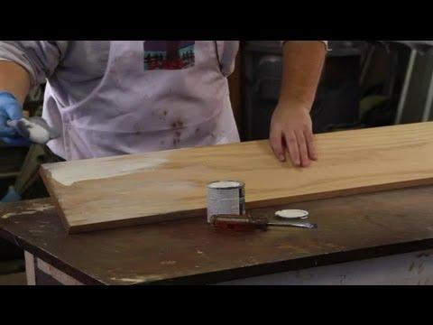 How to Whitewash Oak Furniture : Furniture Restoration & General Care