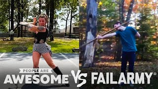 Giant Jenga, Mountain Biking, Staff Spinning Wins VS Fails & More! | People Are Awesome VS FailArmy!