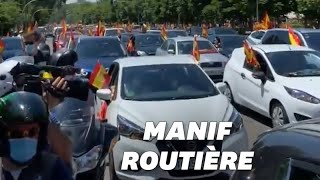 En Espagne, manifestations en voiture contre le gouvernement