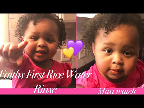 Using fermented rice water on toddlers & kids hair for fast growth