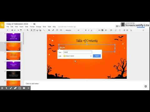 Create a Table of Contents in Slides