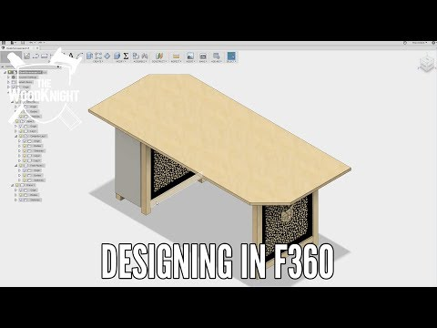Plywood Desk 04. How I Design in Fusion 360