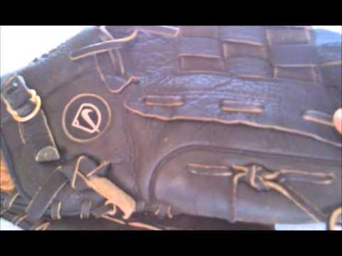 Nike Softball Glove before Relacing