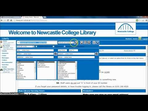 Using Newcastle College Library Catalogue