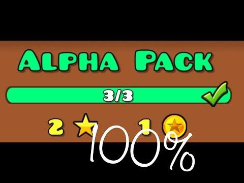 Alpha Pack • Geometry Dash • Retray, Dark Paradise and Sonar